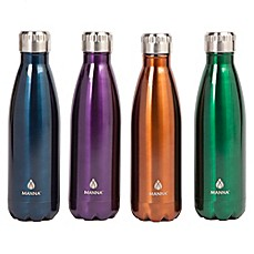 image of Manna™ Vogue® 17 oz. Double Wall Stainless Steel Bottle