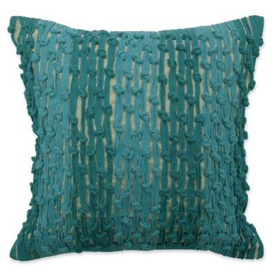image of Waverly® Key of Life Knots Square Throw Pillow in Teal
