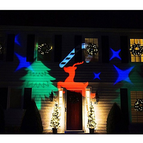 northlight led christmas light projector with remote control