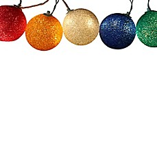 sienna 95 feet 6 light christmas sphere ball string lights - Holiday Value Decorative Christmas Set