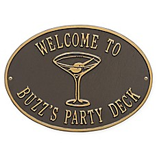 image of Whitehall Products Martini Indoor/Outdoor Wall Plaque