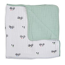 image of Little Unicorn Bike Family Cotton Muslin Quilt