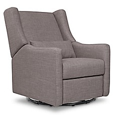 image of Babyletto Kiwi Swivel Electronic Recliner in Grey Tweed