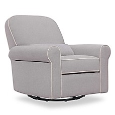 image of DaVinci Ruby Recliner and Glider in Grey/Cream