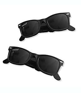 Pinzas Boca Clip® con forma de lentes en negro