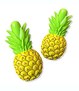 Pinzas para ropa de plástico Boca Clip® con forma de piña amarillo