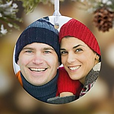 image of Picture Perfect 1-Sided Photo Christmas Ornament