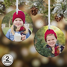 image of Picture Perfect 2-Sided Photo Christmas Ornament