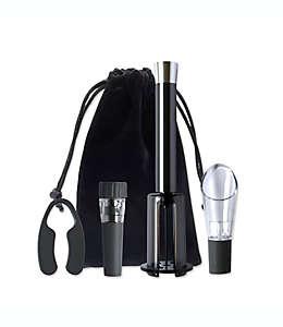 Set de sacacorchos en negro, Vino Pop™ 5 piezas