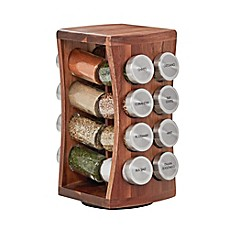 image of Kamenstein® 16-Jar Hourglass Acacia Spice Rack