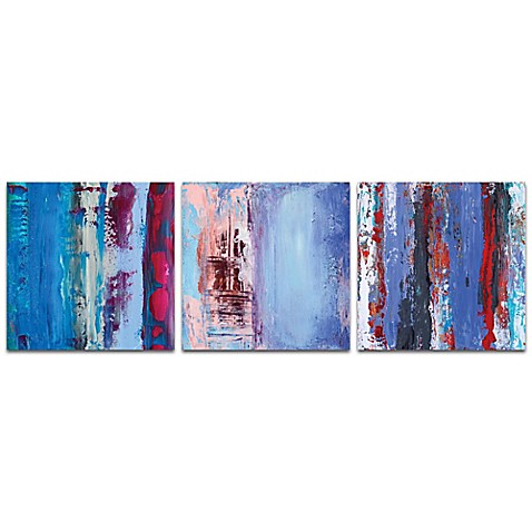 Metal Art Studio Urban I 3-Piece 38-Inch x 12-Inch Metal Wall Art ...