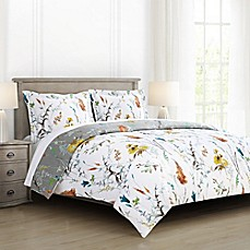 image of Brigita Floral Reversible Comforter Set