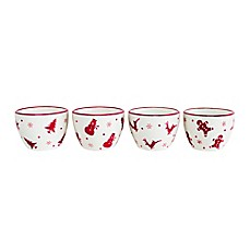 euro ceramica winterfest 4piece dipping bowl set