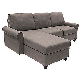 Image Of Serta® Copenhagen Left Facing Reclining Sectional Sofa With Storage