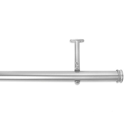 premier complete decorative drapery rod in brushed nickel