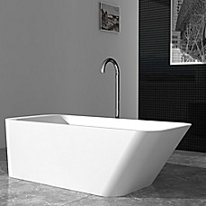 image of Cheviot Marco 67-Inch Solid Surface Bathtub in White