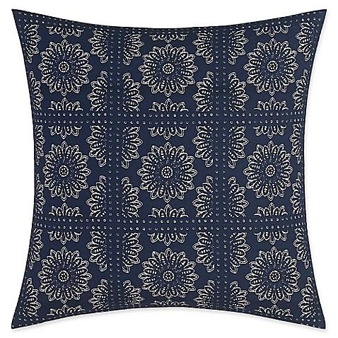 Nautica Decorative Pillows Navy : Nautica Lockridge Bandana Square Pillow in Navy - Bed Bath & Beyond