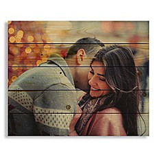 image of Designs Direct Photo Upload 22-Inch x 18-Inch Pallet Wood Wall Art
