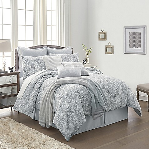 Orchard Street 10-Piece Queen Comforter Set in Grey