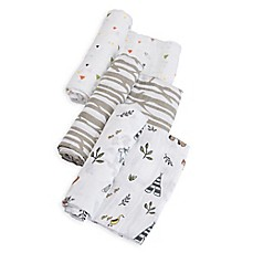 image of Little Unicorn Muslin Swaddle Blankets (Set of 3)