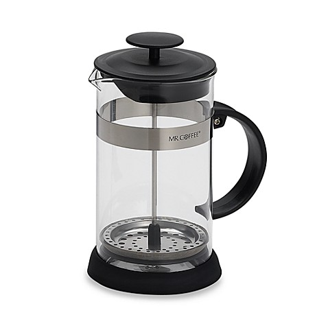 Mr Coffee 4 Cup Press In Black