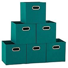 Household Essentials® Collapsible Fabric Storage Bins (Set of 6)  sc 1 st  Bed Bath u0026 Beyond & 13x13 storage cubes | Bed Bath u0026 Beyond