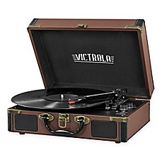 image of Victrola™ 3-Speed Bluetooth® Suitcase Record Player