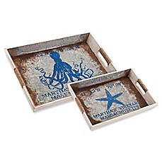 image of Zuo® Nautical Tray in Blue
