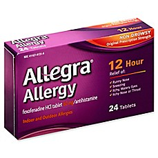 image of Allegra 24-Count 60 mg.12 Hour Allergy Relief Tablets