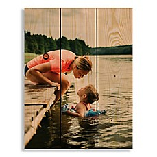 image of Designs Direct Photo Upload 10.5-Inch x 14-Inch Pallet Wood Wall Art