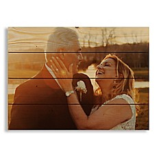 image of Designs Direct Photo Upload 20-Inch x 14-Inch Pallet Wood Wall Art