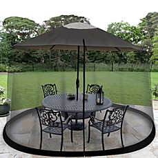 Image Of Jobar Umbrella Table Screen In Black