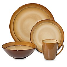 image of Sango Roma Caramel 16-Piece Dinnerware Set