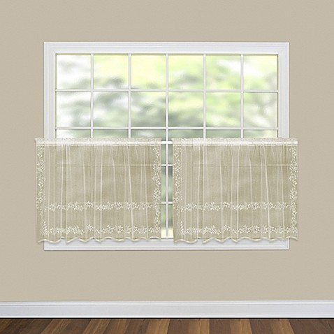 buy heritage lace sheer divine 30 inch kitchen curtain. Black Bedroom Furniture Sets. Home Design Ideas
