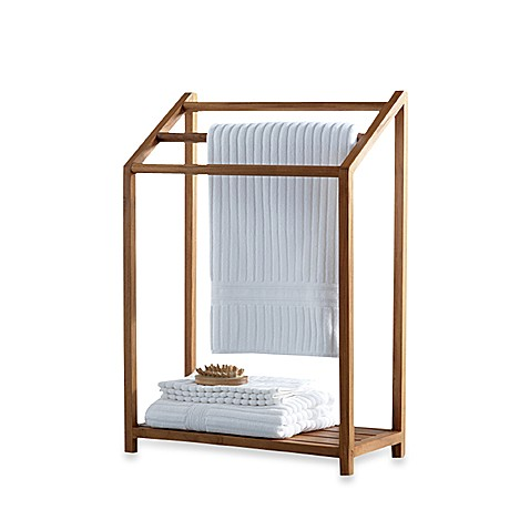 Teak Free Standing Towel Rack. Teak Free Standing Towel Rack   Bed Bath   Beyond