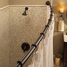 image of Moen® Adjustable Curved Old World Bronze Shower Rod