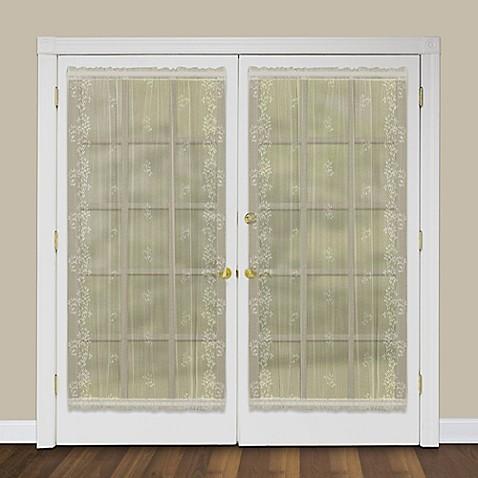 buy heritage lace sheer divine 72 inch rod pocket door panel in ecru from bed bath beyond. Black Bedroom Furniture Sets. Home Design Ideas