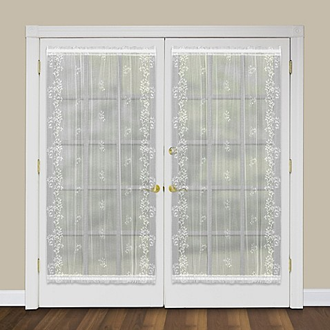 heritage lace sheer divine rod pocket window door panels and shade bed bath beyond. Black Bedroom Furniture Sets. Home Design Ideas