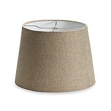 image of mix u0026 match medium 14inch linen drum lamp shade in tan