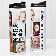 image of 5-Photo Loving Message 16 oz. Travel Tumbler