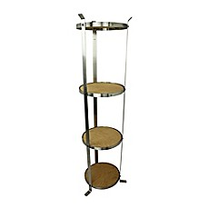 image of Enclume® 4-Tier Unassembled Round Stand in Stainless Steel