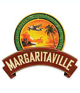 Cuadro decorativo con avión y palmeras, Margaritaville® 64.77 x 71.12 cm en rojo/verde