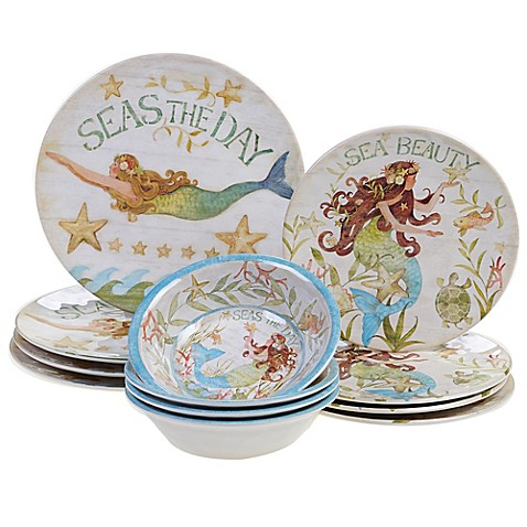 Certified International Sea Beauty by Susan Winget Melamine Dinnerware Collection  sc 1 st  Bed Bath \u0026 Beyond & Certified International Sea Beauty by Susan Winget Melamine ...