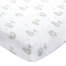 image of Wendy Bellissimo™ Mix & Match Lil Fox Fitted Crib Sheet in Pink/Grey