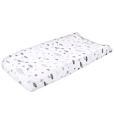 image of Wendy Bellissimo™ Mix & Match Velboa Cloud Moon Changing Pad Cover in Grey/White