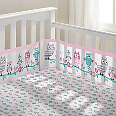 image of BreathableBaby® Owl Fun 3-Piece Classic Crib Bedding Set in Pink