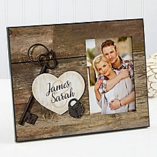 image of Key To My Heart Picture Frame