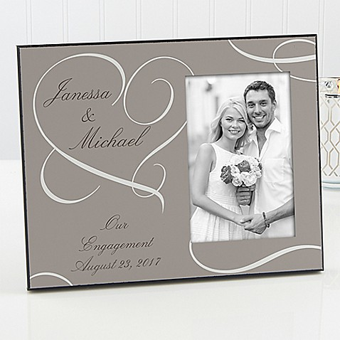 our engagement picture frame - Engagement Photo Frame