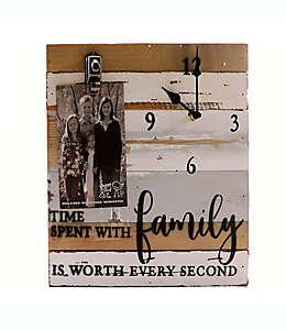 Sweet Bird & Co. Family Reloj de madera de 30.48 x 30.48 cm con clip para fotografía