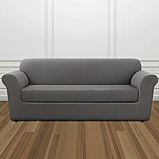 Image Of Sure Fit® Stretch Lattice Box Cushion Sofa Cover